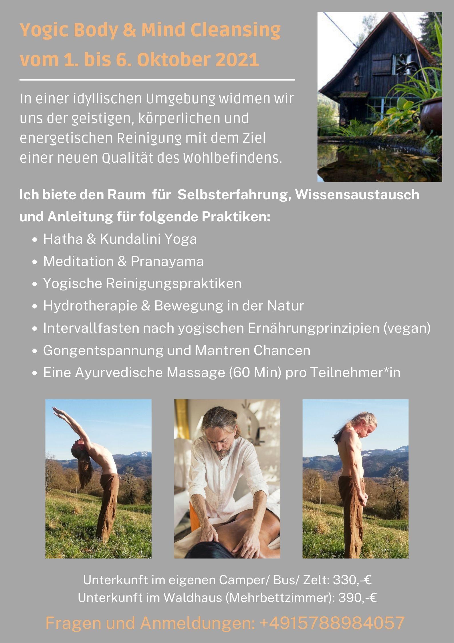 Yogaretreat Schwarzwald 1. bis 6.10.2021
