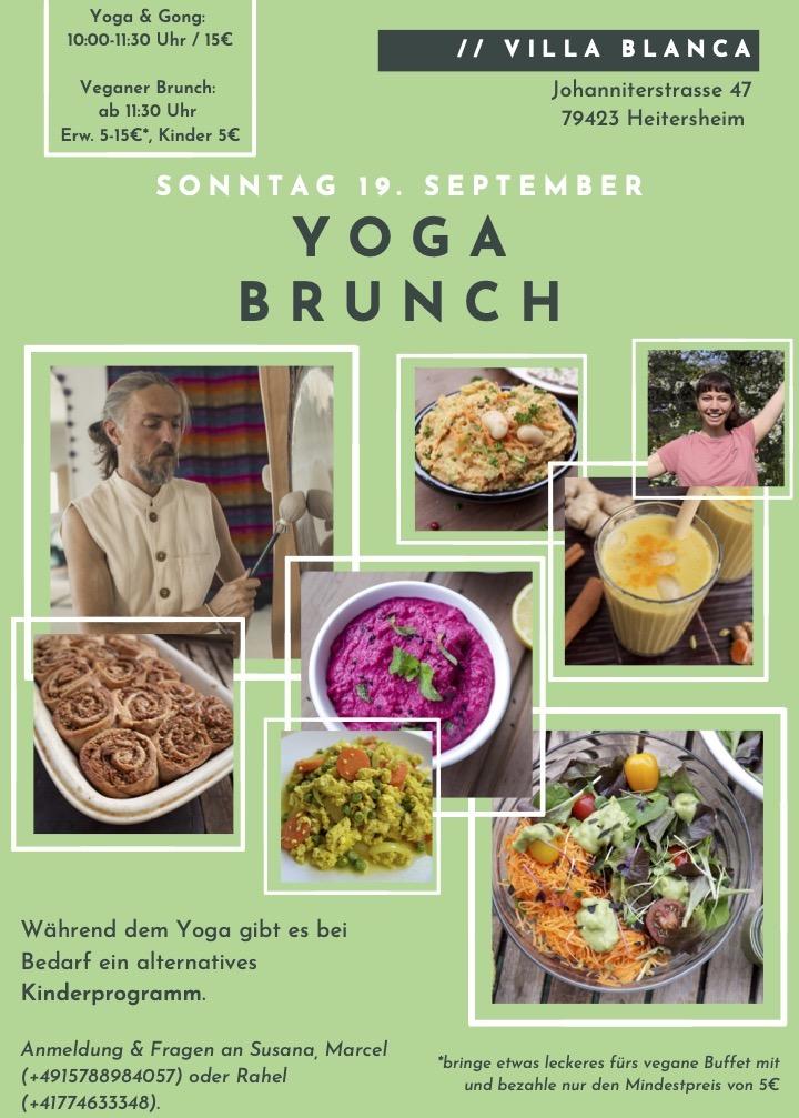 Vegan Yoga Brunch in Heitersheim 19.9.2021